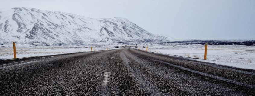 Winter Weather, Road, Mountains